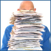 Large Stack of Paperwork