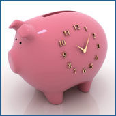 Piggy-Bank Clock Graphic